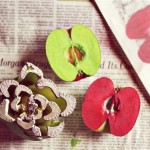 Ştampile din fructe şi legume - 18 idei creative, usor de pus in practica
