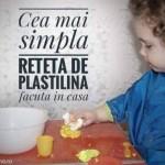Cea mai simpla reteta de plastilina facuta in casa impreuna cu cei mici